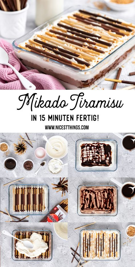 Mikado Dessert Mikado Tiramisu Rezept Mikado Dessert Mikado Tiramisu Rezept Mikado Dessert Mikado Tiramisu Rezept mit Nougat, Vanille und Haselnuss Krokant #mikado #dessert #tiramisu #nachtisch #deineartdeinstick #mikadolover #vanille #nougat #krokant #schnellerezepte