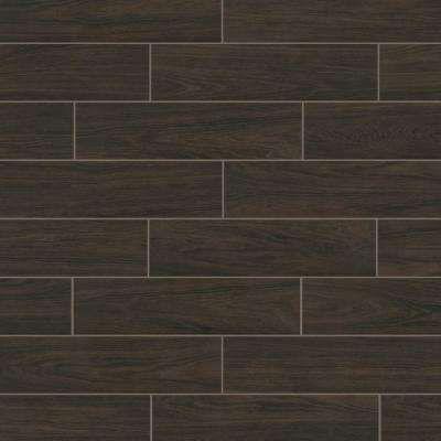 Burlington Walnut 6 In X 24 In Porcelain Floor And Wall Tile 14 Sq Ft Case Porcelain Flooring Flooring Wall Tiles
