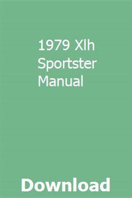 1979 Xlh Sportster Manual Vw Up Workshop Car Workshop