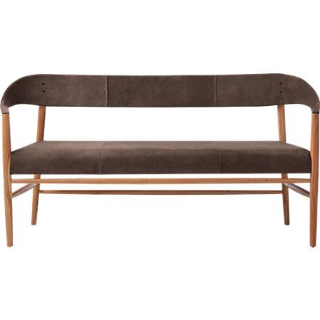 Ozlo Suede Bench Reviews Cb2 Black Dining Bench Modern Dining Bench Dining Bench With Back