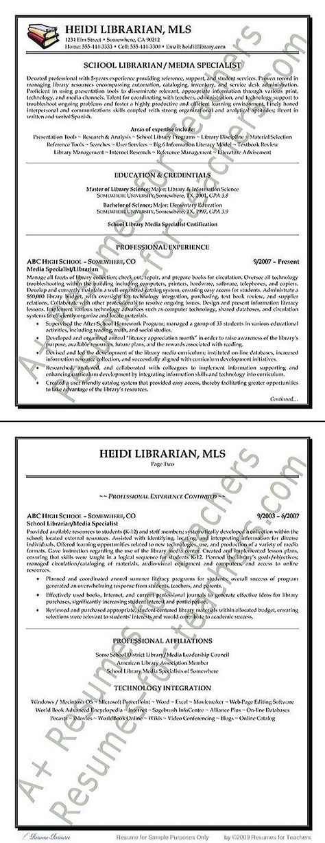 librarian resume sample 110 best promote your teaching skills - Librarian Resume Sample