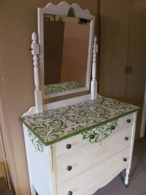 Antique Dresser with Mirror - After