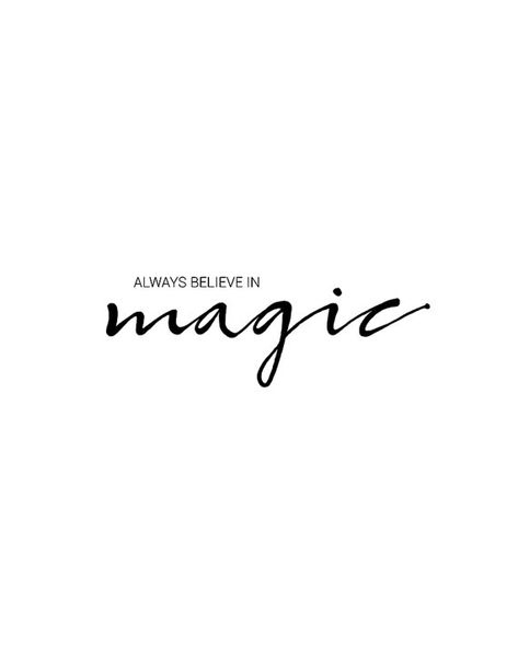 Always Believe In Magic, Printable Wall Art, Magic Quote, Magic Typography Poster, Motivational, Ins