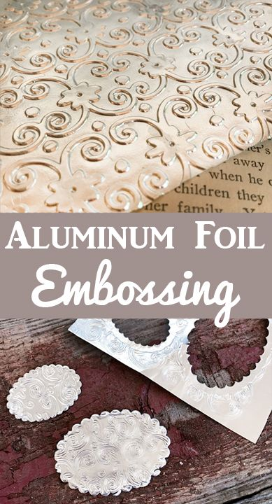 Learn how to emboss Aluminum Foil to make beautiful textures for your collage and craft projects! By Rebecca Parsons for Graphics Fairy. Such a fun technique! Card Making Tips, Card Making Tutorials, Card Making Techniques, Making Ideas, Metal Embossing, Embossing Folder, Aluminum Foil Crafts, Craft Foil, Embossing Techniques