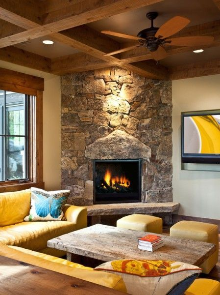 50 Fantastic Corner Fireplace Ideas Corner Stone Fireplace