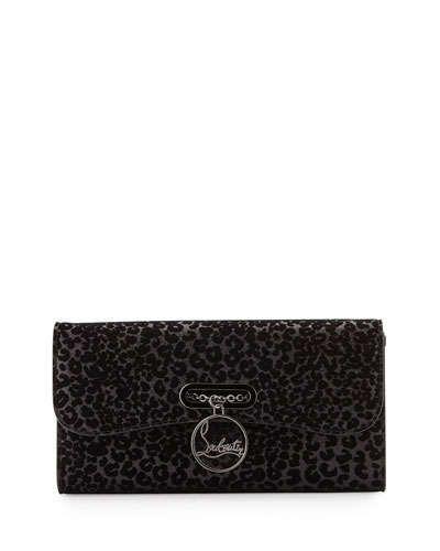 89cc1d58199 V2GPS Christian Louboutin Riviera Glitter Leopard-Print Evening ...