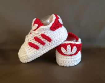 09d6450849de ADIDAS PATTERN SUPERSTAR Baby crochet adidas -newborn sneakers- booties-baby  crochet shoes-baby girl-baby boy
