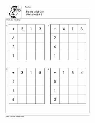 Adding Square Worksheets To 12 First Grade Math Worksheets Learning Math Worksheets
