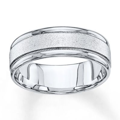 Jared Wedding Band 10k White Gold 7mm Mens Gold Wedding Band Mens Wedding Bands White Gold Wedding Bands