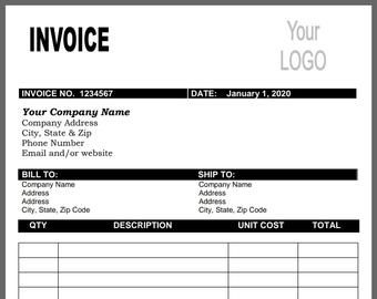 Invoice Template Business Invoice Receipt Template Etsy In 2020 Photography Invoice Invoice Template Photography Invoice Template
