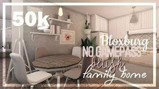 Bloxburg Blush Family Rp House No Gamepasses 50k Tiny House Bedroom My Home Design House