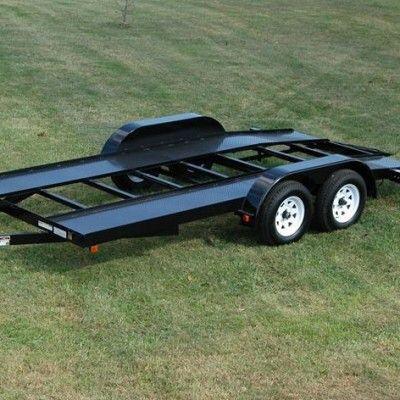 Car Hauler Trailer 16 Welding Plans Diamond Plate Deck Car