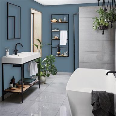 Homebase Bathroom Mid Sheen Paint Aegean 2 5l In 2020 Homebase Bathrooms Homebase Painting Bathroom