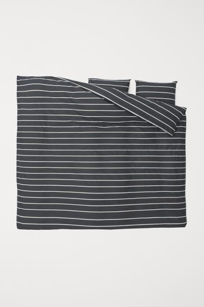 Striped Duvet Cover Set White Striped Home All H M Us Duvet Cover Sets Duvet Cover Pattern Striped Duvet Covers