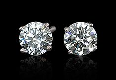226dbace07286 High Sparkling F VS1 Diamond Stud Earring Huge 6 Carat Diamond Ear ...