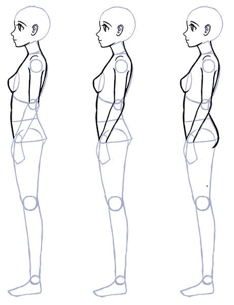How To Draw Anime Side View Side View Anime In 2020 Person Drawing Drawing Anime Bodies Anime Drawings