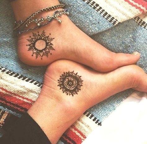 henna tattoos fuß