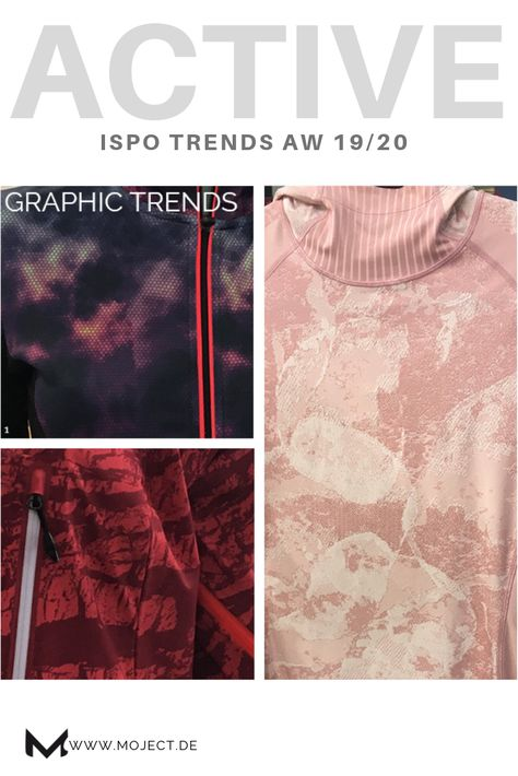 Speedlife / Ortovox / Eclat Textile /Function goes Fashion: ISPO trend report AW 19/20 February 2019.One of my 6 top trends: Modern camouflage. In additional to the usual graphic print motifs, made up of geometric lines and triangles, mainly organic, cloudy allover prints can be seen. Almost like a new kind of camouflage.#ispo #winter1920 #fashiontrends #printing #patterns #fashiontrends #activewear #trendconsulting #camouflage