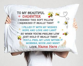 daughter love mom pillow case