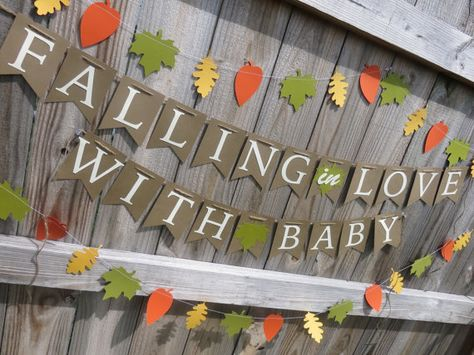 Falling in Love Banner Fall Baby Shower Fall by SavorEachSecond