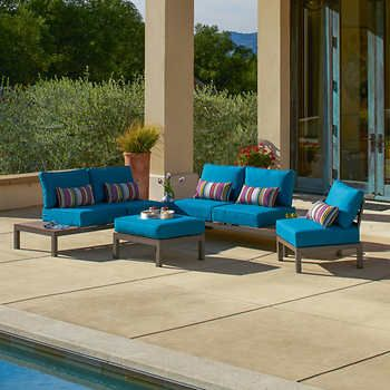 Colonial 5 Piece Modular Seating Set Costco Patio Furniture Patio Sectional Outdoor Furniture Sets