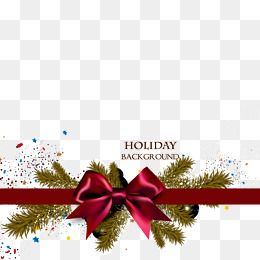 Exquisite Christmas Ribbon Background Vector Material
