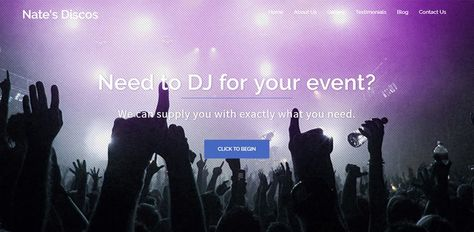 Nates Disco's needed a website to show his customers what they can offer them for their future events, so we supplied them with one. Visit their website at: www.natesdiscos.co.uk