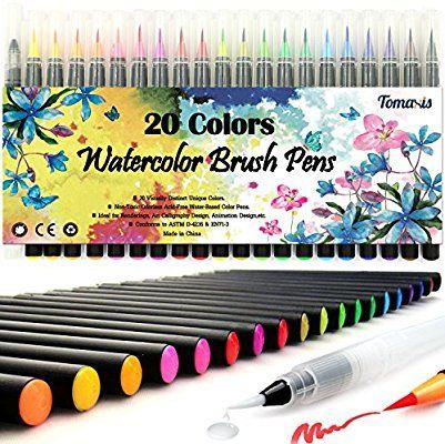 Amazon Com Tomaxis Watercolor Brush Pens Art Markers Art