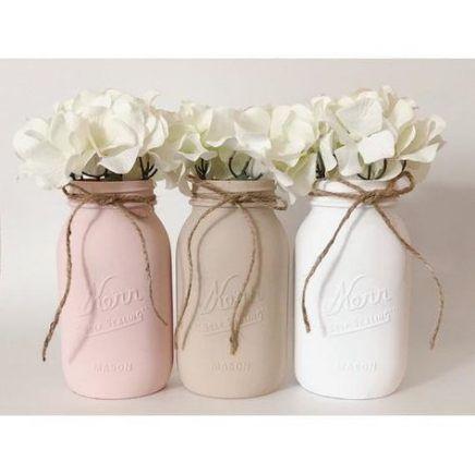 61 Ideas For Birthday Decorations Sweet 16 Mason Jars Pink Mason Jars Baby Shower Table Centerpieces Girl Baby Shower Centerpieces