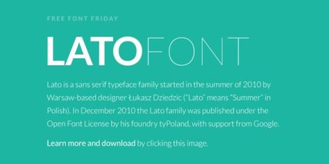 Lato Font Free Download | Fonts | Free fonts download, Fonts