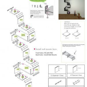 K2 Modular Staggered Shelving Expand Furniture Expand
