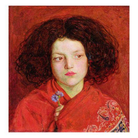 Ford Madox Brown : The Irish Girl (1860) - The Ibis