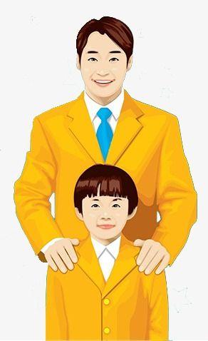 الأب وابنه Human Drawing Men Dress Father And Son