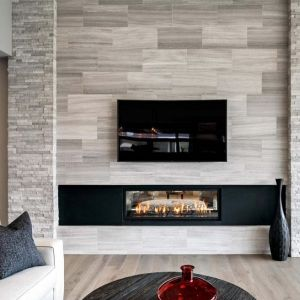 Gray Tile Fireplace Surround Fireplace Tile Surround Fireplace