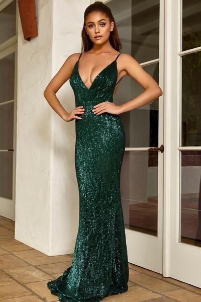 green formal dresses