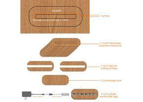 How To Make Custom Dimension Wood Led Base For Acrylic Plate Acrylic Lamp Base Led Lamp Diy Led Diy