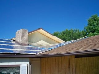 Reroofing With Corrugated Metal And Radiant Barrier Over Asphalt Shingles In 3 Steps In 2020 Reroofing Metal Roofing Systems Asphalt Roof Shingles