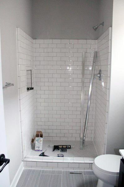 How Much Of My Bathroom Should I Tile Houzz Uk In 2020 Shower Remodel Bathroom Interior Design Inexpensive Bathroom Remodel