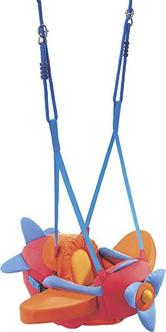 Haba Aircraft Swing Indoor Mounted Baby Swing With Adjustable Straps Seatbelt Propeller For Ages 10 Months And Baby Swings Baby Door Bouncer Baby Bouncer