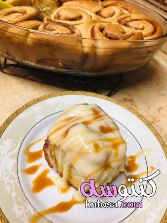 طريقة عمل سينابون مكونات سينامون رولز طريقة تحضير لفائف القرفة Desserts Food Apple Pie