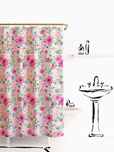 Dahlia Shower Curtain By Kate Spade New York Floral Shower