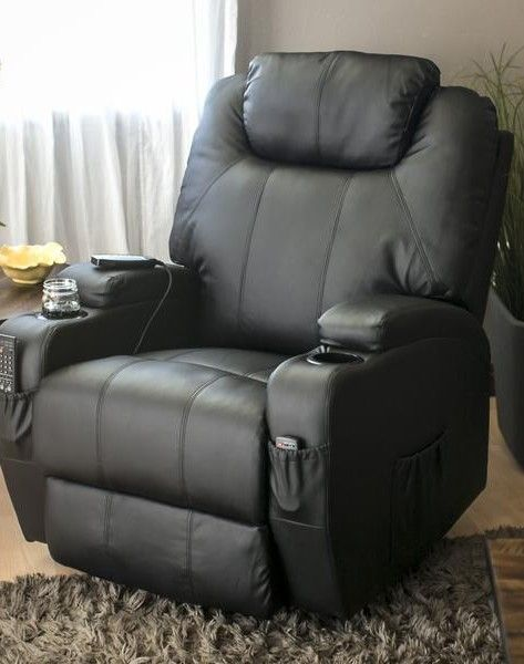 Swivel Massage Recliner Chair W Remote Control 5 Modes