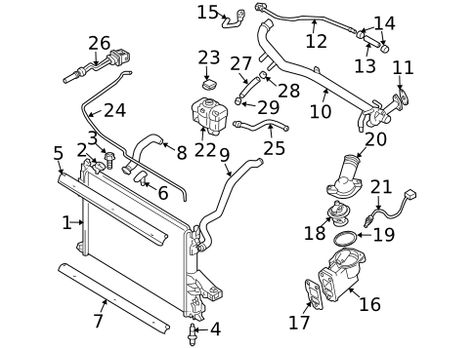 Cooling Systemradiator Components For 2005 Volvo S80 1
