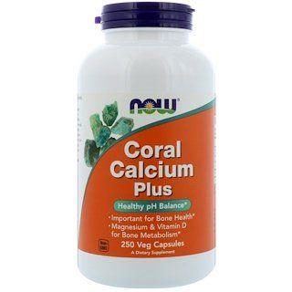 Now Foods Coral Calcium Plus 250 Veg Capsules Now Foods Magnesium Vitamin Sports Food