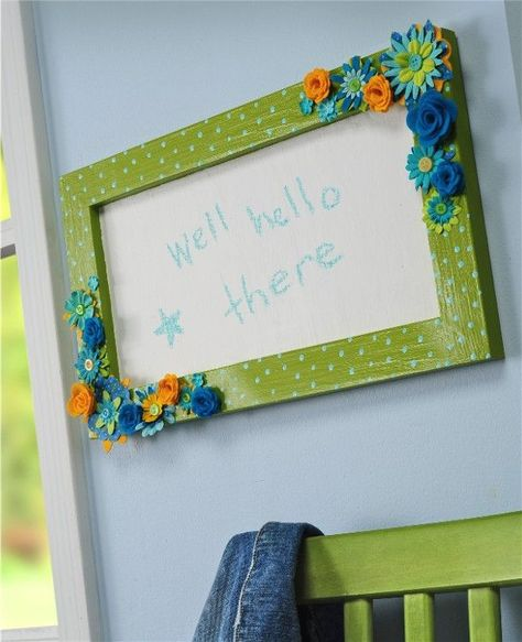 Upcycle a frame into a chalkboard with paint and Mod Podge. What is the most interesting thing you have ever upcycled?