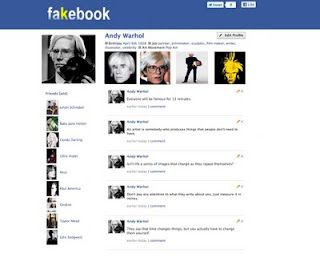 Use Fakebook to create artist bio pages to share in class.