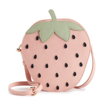 You'll love the sweet style of this delectable LC Lauren Conrad strawberry crossbody bag. Unique Purses, Cute Purses, Unique Bags, Kids Purse, Novelty Bags, Bag Icon, Kids Bags, Cute Bags, Lc Lauren Conrad