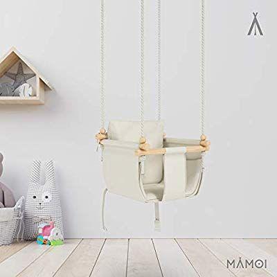 MAMOI Babyschaukel Kinderschaukel Holz Schaukel f/ür Kinder Garten Indoor Outdoor SICHERHEITSGURT