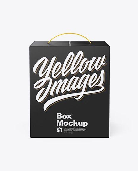 Download Download Psd Mockup Box Box With Handle Boxes Carton Front View Handle Mockup Pack Package Paper Paper Box Stora Mockup Free Psd Box Mockup Psd Mockup Template