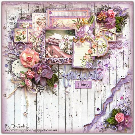 "Di's Creative Space: My February DT Reveal for The Scrapbook Store""Favourite Things"" - G45 Time to Flourish"